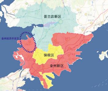 大连市内分区地图