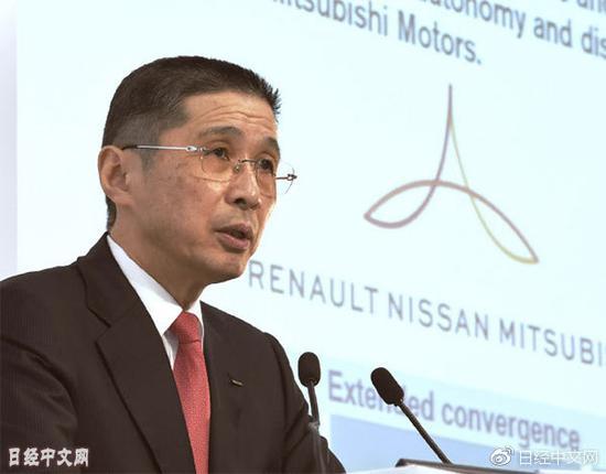 日产汽车社长西川广人在财报发表会上(5月14日,横滨市西区)